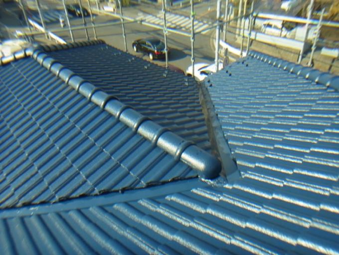 セメント瓦への屋根塗装