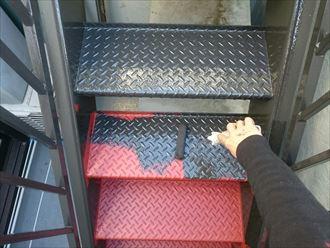 階段床面塗装