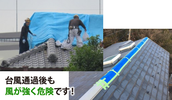 台風通過後も風が強く危険