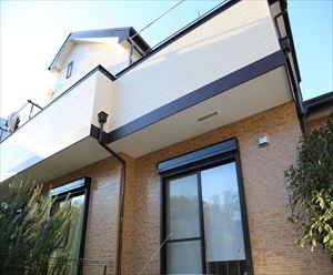花見川区|住まいのキレイと快適を両立、タイル調サイディングにUVプロテクトクリアSiでクリア塗装と屋根は高日射反射率塗料サーモアイSiで遮熱塗装