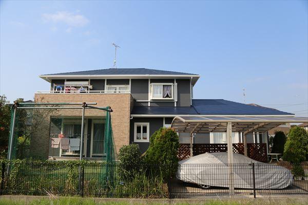 木更津市で2種類の塗料を使った外壁塗装工事