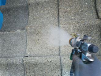 セメント瓦の洗浄