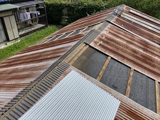 トタン屋根の張替工事