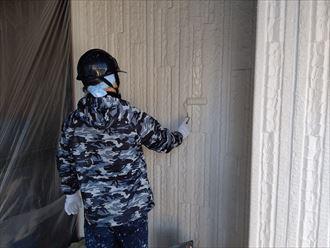 木更津市 仕上げ塗装の状況