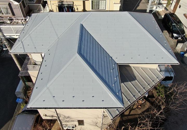 サーモアイ4Fを使用した屋根塗装が竣工