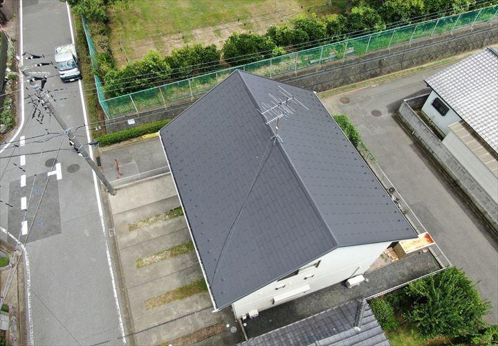 君津市 屋根仕上げりドローン撮影