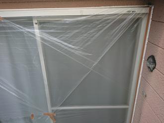 窓や扉は養生