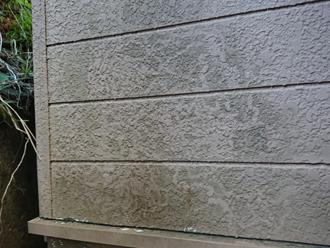 全体的に藻が発生した窯業系サイディング外壁