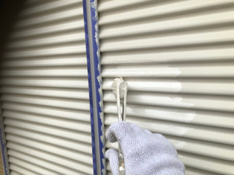 雨戸、戸袋の塗装