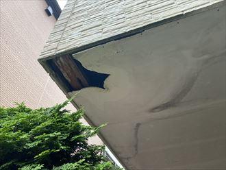 軒天井の破損