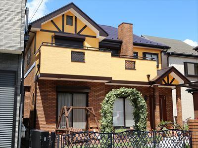 千葉市中央区|ブリックタイル補修と屋根遮熱塗装と高弾性エラストコートで外壁塗装