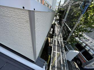 柏市増尾にてモルタル外壁を部分的に窯業系サイディングへと張替え