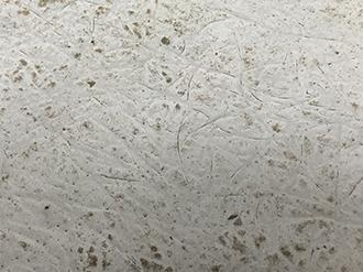 品川区西大井でトップコートが劣化したベランダ床には特徴的なFRP防水の摩耗跡