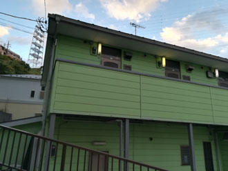 保土ヶ谷区瀬戸ヶ谷町にてパーフェクトトップ(J12-90D)を使用した外壁塗装で落ち着いた印象に