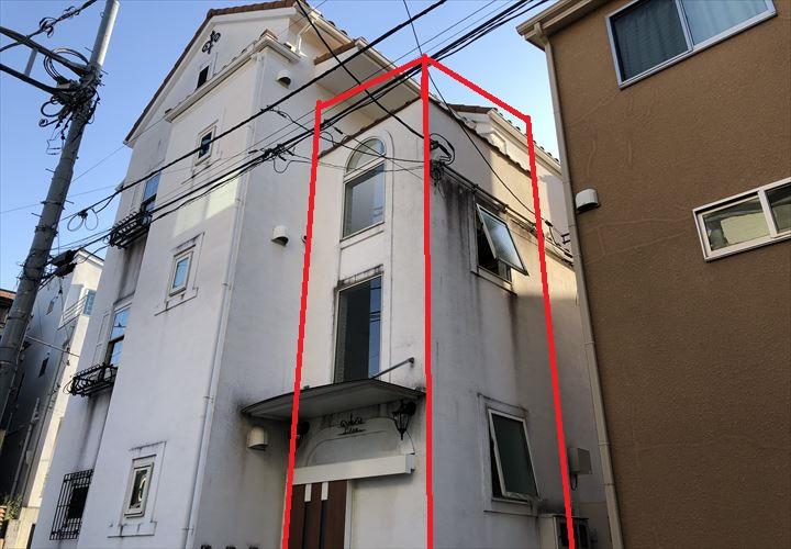 豊島区東池袋にて建物内部に設置された鉄骨階段のサビ、劣化状況を調査致しました