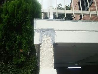 市原市西国分寺で車庫の雨漏れを防水工事と塗装工事で解消