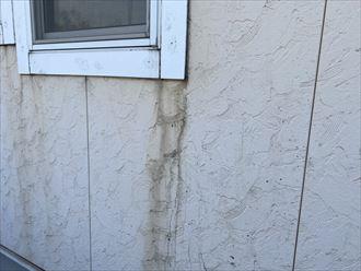 君津市西坂田で吹き付け外壁に染みが出来てしまう、現地調査依頼