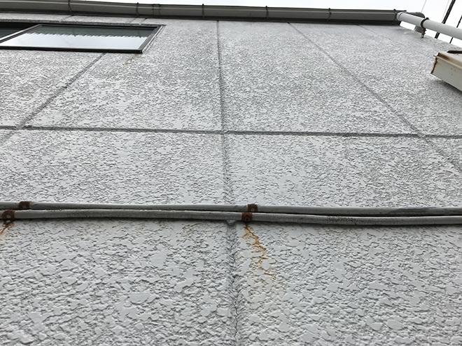 大田区新蒲田で3階建てALC吹き付け仕上げ外壁の塗装お見積り