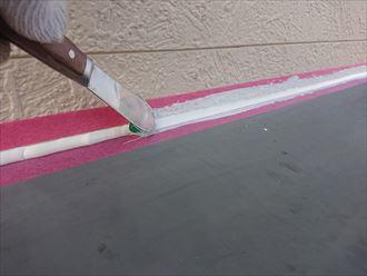 山武郡芝山町で高耐候塗料パーフェクトセラミックトップG(ND-375)を使用した初めての外壁塗装を実施