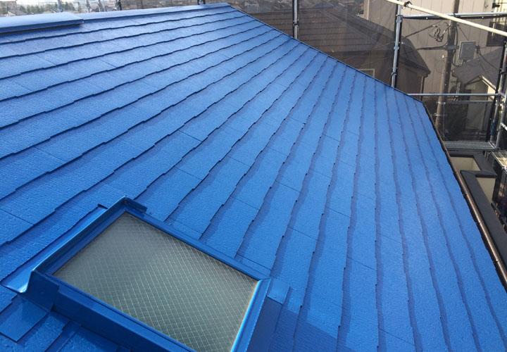 スーパーセランマイルドIR(IR-39)で塗装したスレート屋根