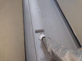 バルコニー床のトップコートを塗替え
