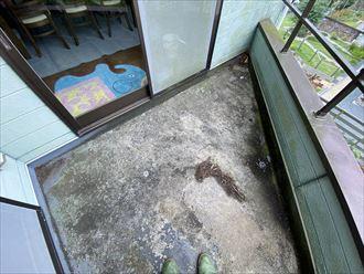 富津市竹岡でバルコニー防水が劣化しているので、点検を希望