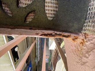 茂原市木崎|外部階段が錆びてしまい、交換かメンテナンスを検討