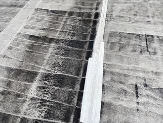 君津市西坂田で防水の劣化から雨漏りが発生
