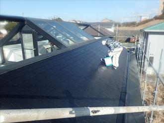 木更津市 屋根塗装作業