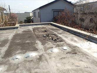 市原市瀬又の雨漏り調査、陸屋根の防水の劣化が原因でした