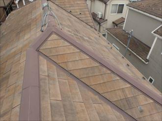船橋市海神 塗膜の劣化による屋根の変色