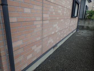 千葉市稲毛区小中台で、外壁のデザインを活かし外壁塗装工事を行いました