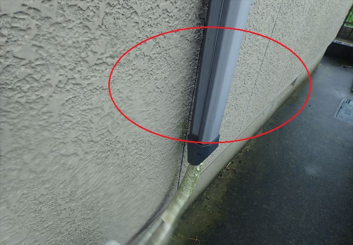 木更津市八幡台の築20年が経過した外壁調査、苔や外壁の色褪せが発生