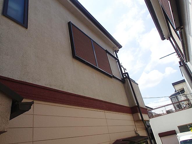 品川区豊町|1階サイディング・2階モルタルの外壁をツートンカラーで塗装