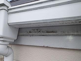 品川区平塚で塗膜が剥がれた付帯部分の塗り替え依頼、金属部には錆が発生