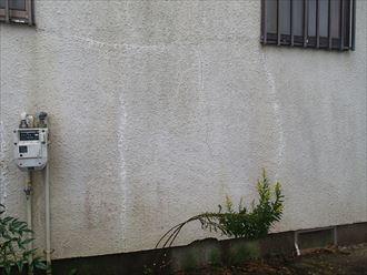 四街道市和良比の築25年が経過した外壁調査、苔や亀裂が発生へのメンテナンス工事のご提案