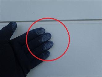 大網白里市永田の築20年が経過した外壁調査、チョーキングの発生による塗装時期のサイン
