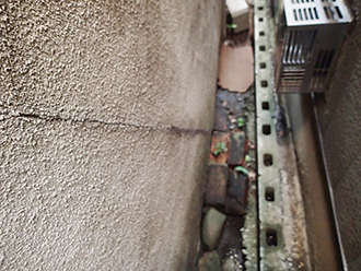 モルタル外壁のクラック