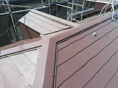 屋根塗装でピカピカになったスレート屋根