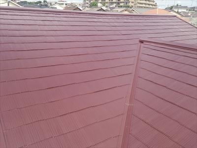 横浜市磯子区でスレート屋根とトタン屋根の塗装工事
