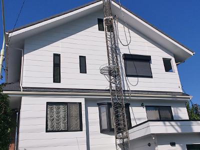 横浜市緑区|ファインシリコンで外壁塗装 エコグラーニでカバー工法