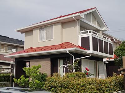 千葉市緑区 塗装で屋根と外壁をリフレッシュ!更にバルコニーをトップコート