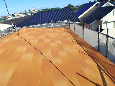 棟板金飛散 屋根カバー工事・軒天塗装工事 千葉県大網白里市