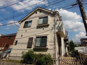 座間市入谷東にて、パーフェクトトップ(ND-371)での外壁塗装とバルコニーのトップコート塗りかえを行いました