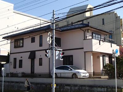 習志野市でセメント瓦を屋根塗装、外壁塗装はナノコンポジットW