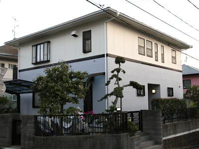 千葉県松戸市 棟板金交換 屋根と外壁塗装