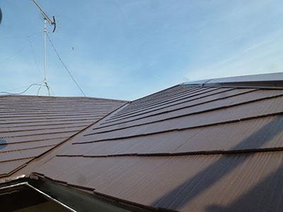 千葉県船橋市|破風板・軒天・雨戸を含んだ屋根塗装と棟板金交換
