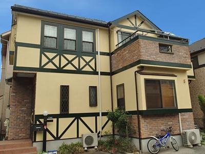 川崎市中原区|耐汚染塗料ナノコンポジットWで外壁塗装、遮熱塗料で屋根塗装