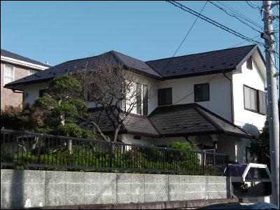横浜市栄区|外壁塗装と屋根カバー工法、さらにベランダ防水工事