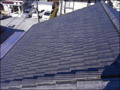 千葉県君津市|セメント瓦の屋根塗装と漆喰補修